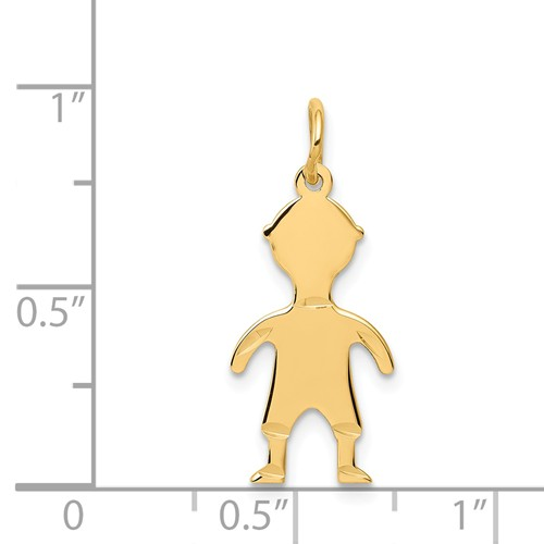 14k gold boy charms