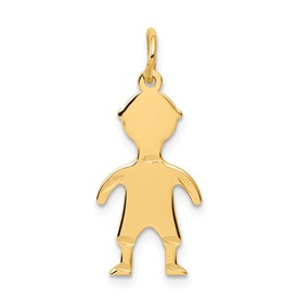 14k gold boy charms.