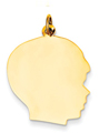 14k gold boy head charm