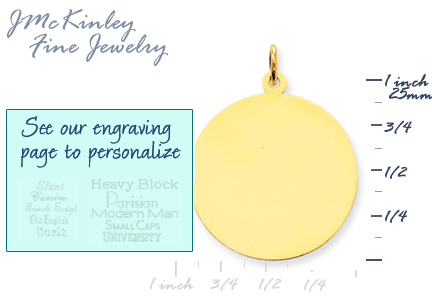 14k gold circle charms gold round charms to engrave