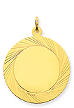 14k gold circle charms with decorative edge