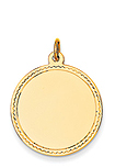 14k gold large circle charms