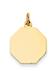 14k gold octagon charm stop sign charm