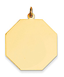 14k gold large octagon charm stop sign charm