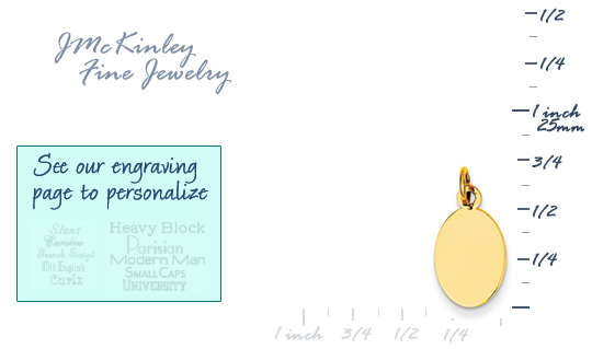 14k gold oval charms