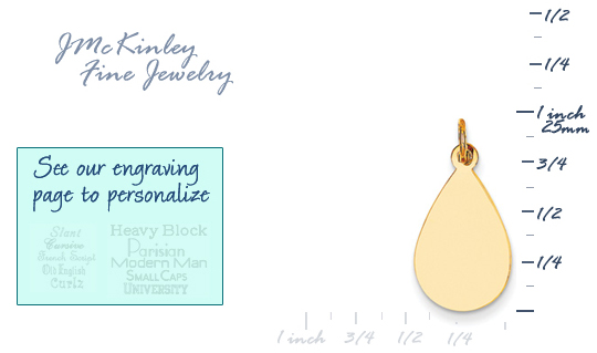 14k gold teardrop charms