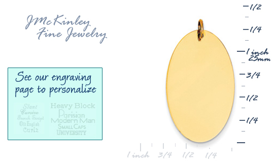 14k gold large oval charms