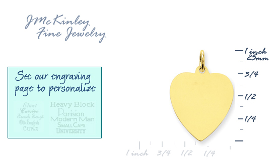 14k gold heart charms