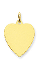 14k gold heart charms decorative edge