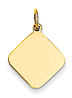 14k gold dianond charms MEDIUM THICKNESS gold diamond to engrave