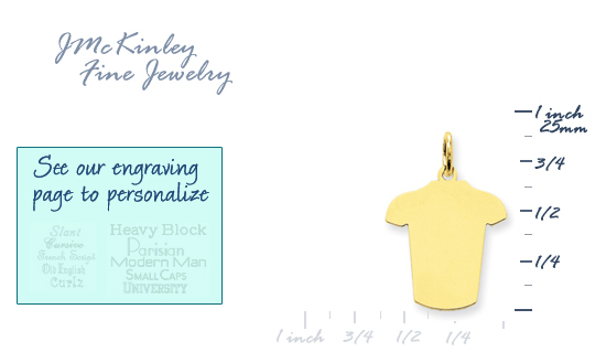 14k gold T-shirt charms