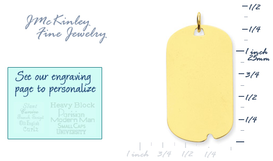 14k gold dog tags