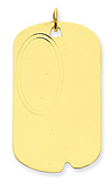 14k gold dog tags MEDIUM THICKNESS .018 inch or .46mm