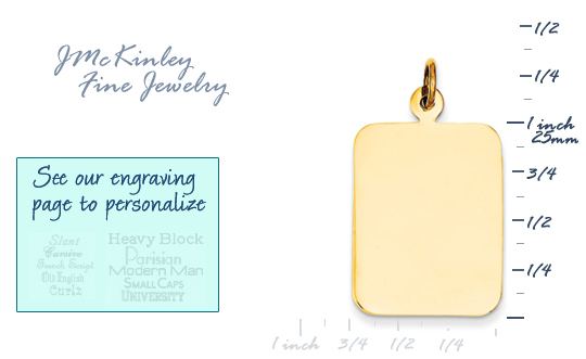 14k gold rectangle charms