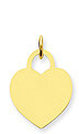 14k gold heart charms to engrave