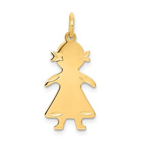 14k gold girl charms.