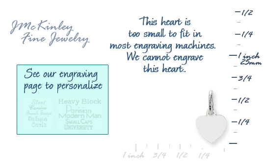 14k white gold tiny heart charms to engrave