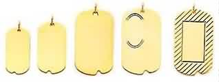 gold engraved dog tag charms engrave gold dog tags