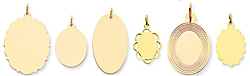gold engraved oval charms engrave gold ovals