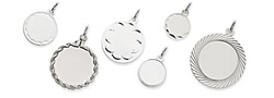 white gold fancy circle charms