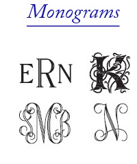 click for monogram font examples